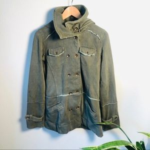 Hurley Green Cotton Hoodie Jacket